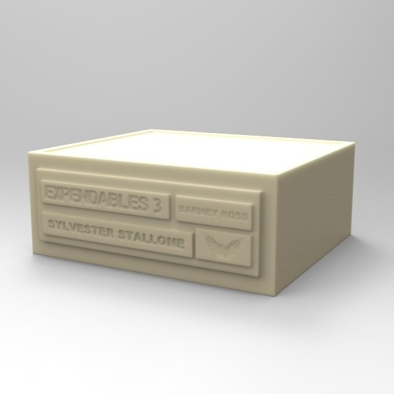 01.jpg Download STL file BASE BARNEY ROSS SYLVESTER STALLONE • 3D printable object, thierry3D