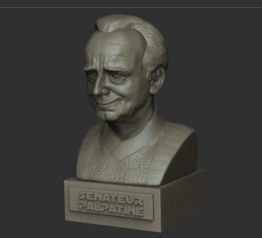 05.jpg Download STL file PALPATINE • 3D print template, thierry3D