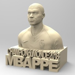 Download STL file KYLIAN MBAPPE • 3D print design, thierry3D