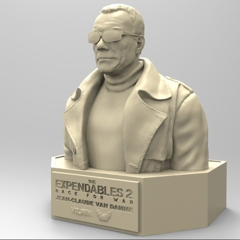 04.jpg Download STL file NAUGHTY JEAN CLAUDE VAN DAMME • 3D printable template, thierry3D
