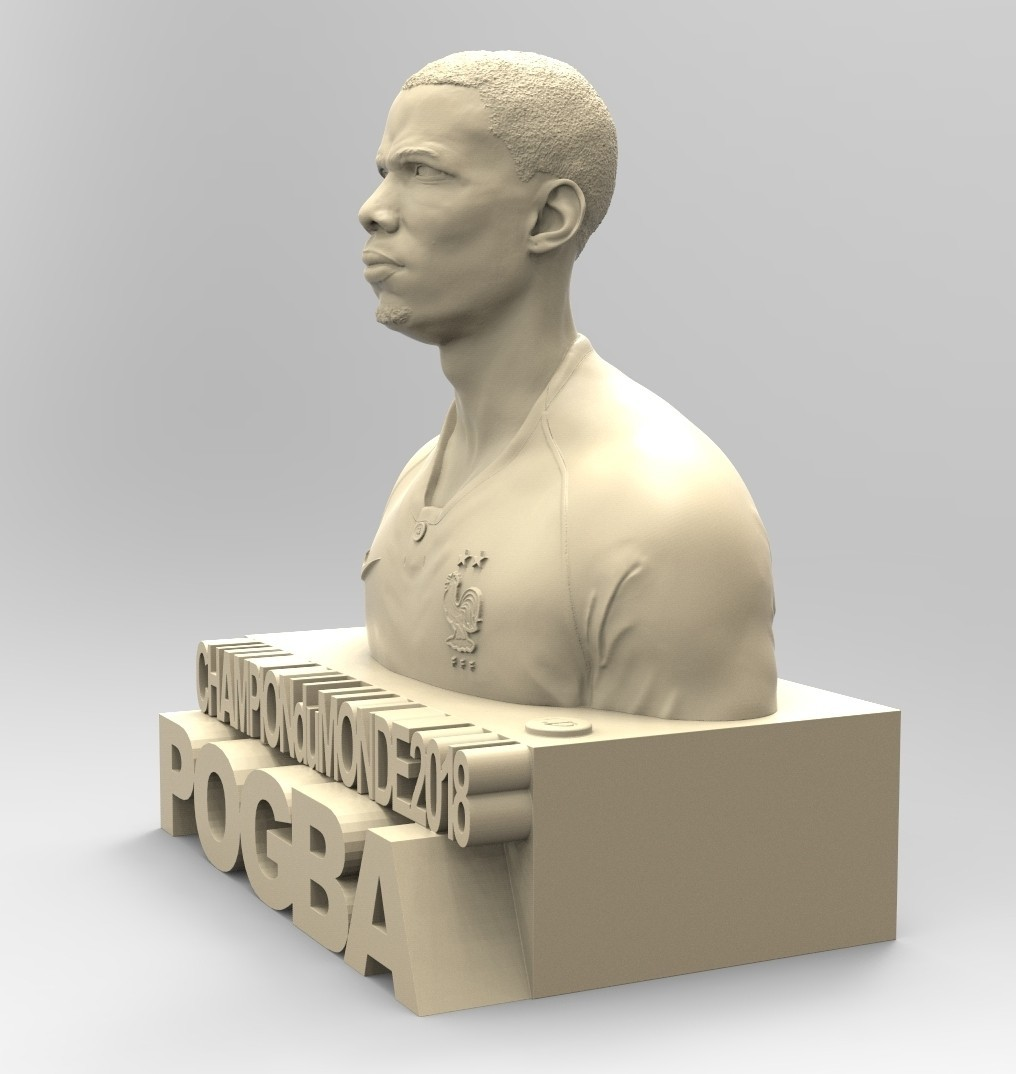 03.jpg Download STL file PAUL POGBA • Object to 3D print, thierry3D