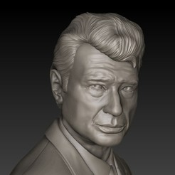 02.jpg Download STL file JOHNNY HALLYDAY • 3D printing model, thierry3D