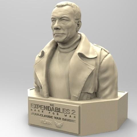 02.jpg Download STL file NAUGHTY JEAN CLAUDE VAN DAMME • 3D printable template, thierry3D