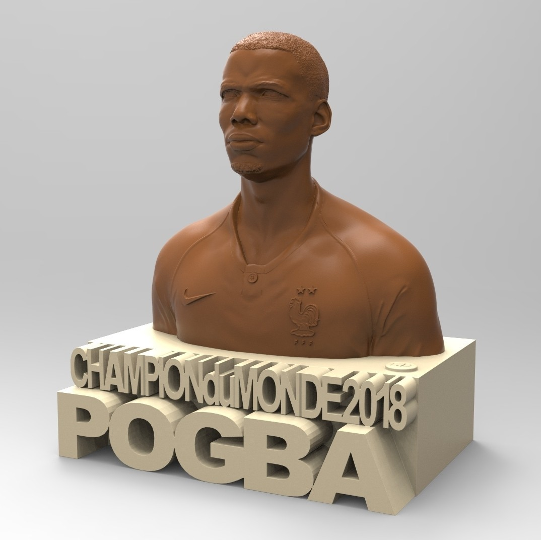 02.jpg Download STL file PAUL POGBA • Object to 3D print, thierry3D