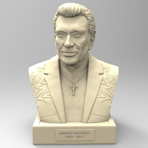 Imprimir en 3D JOHNNY HALLYDAY, thierry3D