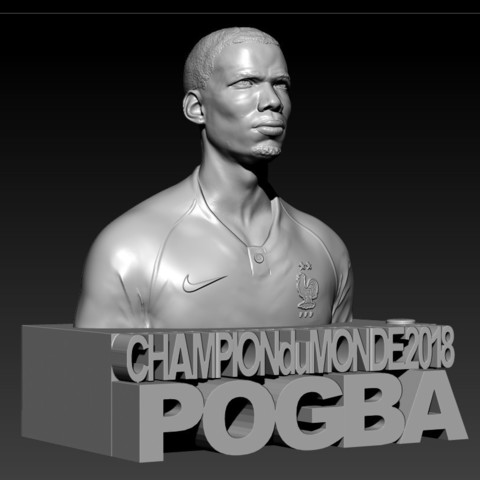 05.jpg Download STL file PAUL POGBA • Object to 3D print, thierry3D