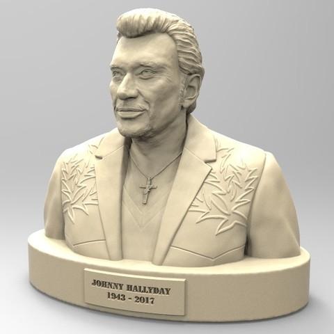 Télécharger modèle 3D JOHNNY HALLYDAY  2ème version, thierry3D
