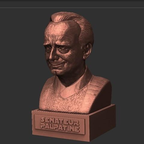 03.jpg Download STL file PALPATINE • 3D print template, thierry3D