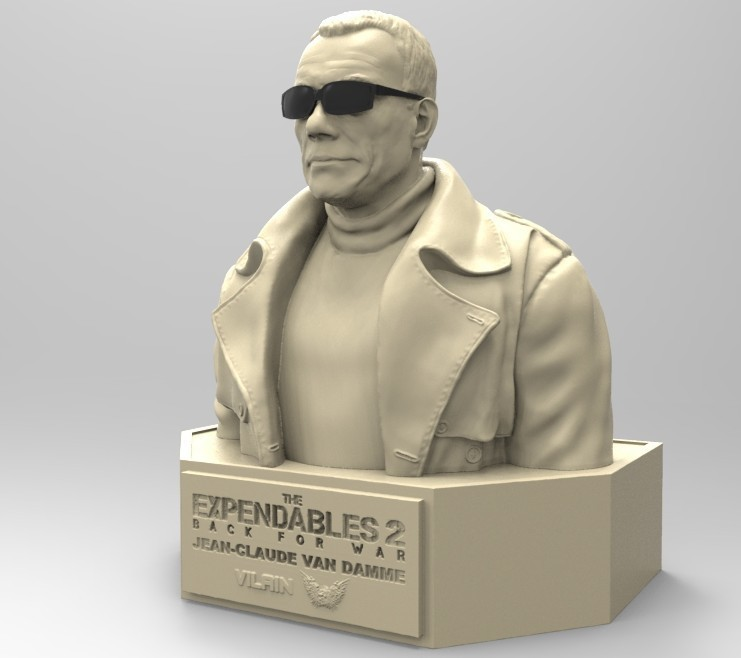 06.jpg Download STL file NAUGHTY JEAN CLAUDE VAN DAMME • 3D printable template, thierry3D