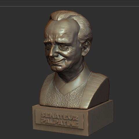 06.jpg Download STL file PALPATINE • 3D print template, thierry3D