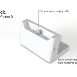 Free Desk Dock for iPhone 5 STL file, printlab