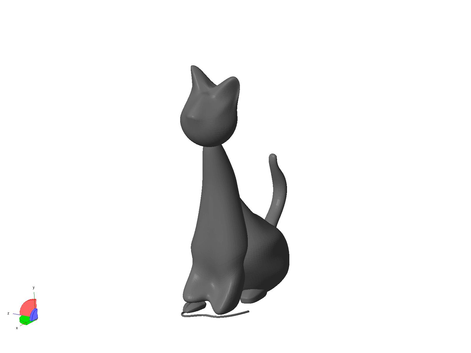 Hector V1.png Download STL file Hector The Cat • 3D printer design, MyVx35