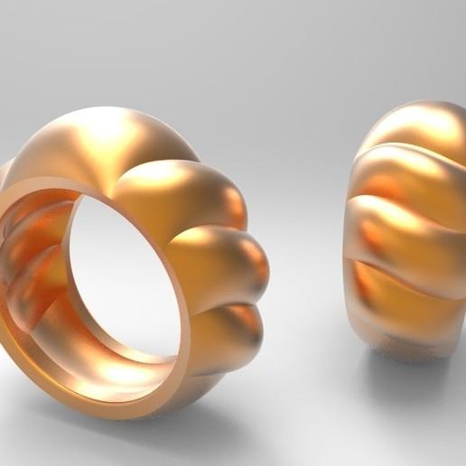 untitled.72.jpg Télécharger fichier STL gratuit Anneau de coquillage • Design à imprimer en 3D, KhimairaStudio
