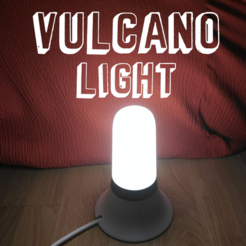 idea 3.png Download free STL file Vulcano light lamp • Template to 3D print, Rourrodas