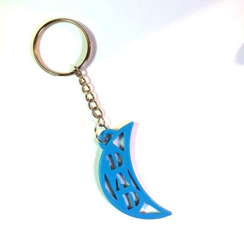 portachiavi moon dad 01.jpg Download free STL file Dad Keychain • Design to 3D print, CambiamenteDS