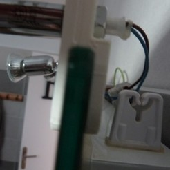 P1050164 (Copier).JPG Download free STL file clamp for mirror lamp • 3D printer model, sylvain