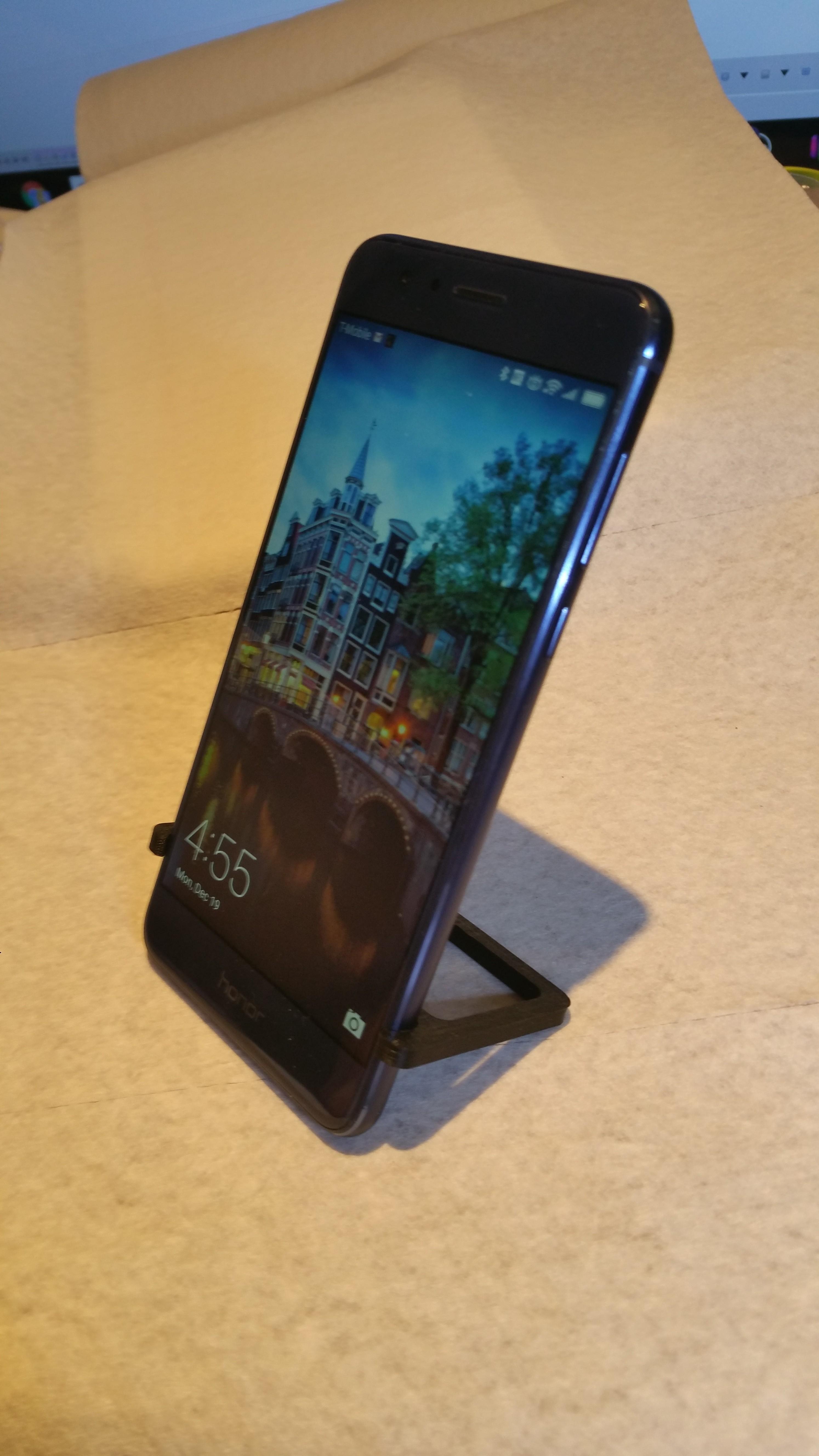 20161219_045528.jpg Download STL file Pocket Stand for Huawei Hero 8 • 3D printing template, cfishy