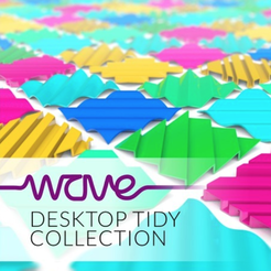 Free STL files WAVE desktop tidy collection, tone001