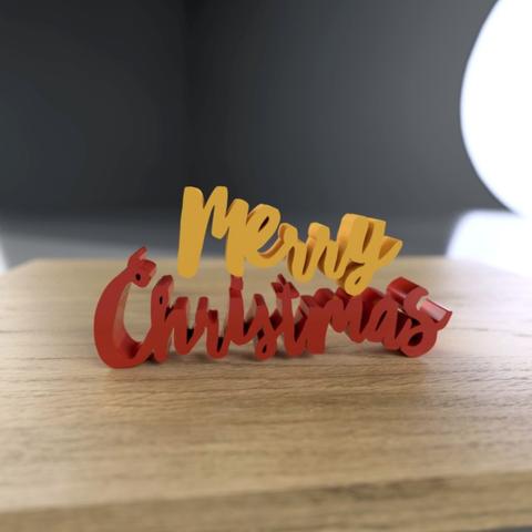Free 3D printer model Christmas Lettering Blocks, tone001