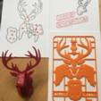 Free 3D print files Christmas Reindeer kit card, tone001