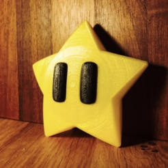 Free stl file Mario Star decorations, tone001