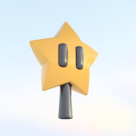 Capture d'écran 2017-10-24 à 16.15.16.png Télécharger fichier STL gratuit Décorations Mario Star • Design pour impression 3D, tone001