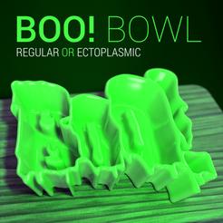 boo bowl header.png Télécharger fichier STL gratuit Bol d'Halloween BOO ! • Plan pour impression 3D, tone001
