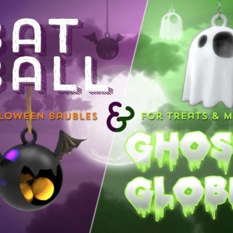 Capture d'écran 2017-10-24 à 16.11.29.png Download free STL file BatBall & GhostGlobe • 3D printer design, tone001