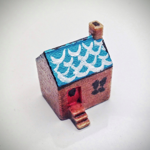 Free 3D printer model Simple tiny house, tone001