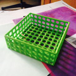 Download free STL file Square wire basket tray • 3D printing model, tone001