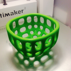 Free 3d print files Small round wire basket (Smoothed), tone001