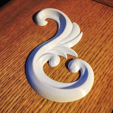 Free 3D print files Ornamental flourish 01, tone001
