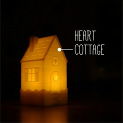 heart cottage.jpg Download free STL file Tealight Winter Village - Heart Cottage • 3D print object, tone001