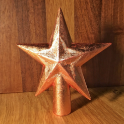 Free STL Faceted Star decorations, tone001