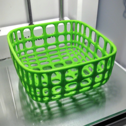 Free 3d printer designs Large wire basket (medium height), tone001