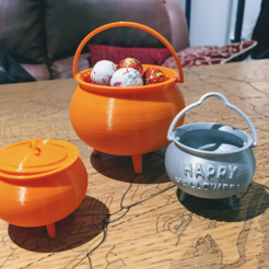 Download free 3D printing models Halloween Cauldrons, tone001