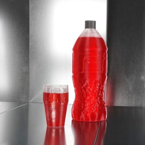 Centaur-PP-bottle15.jpg Télécharger fichier STL gratuit Bouteille de FormFutura Cola • Plan pour impression 3D, Formfutura