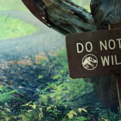 Download free STL JW - DO NOT FEED WILDLIFE sign, Think3dprint