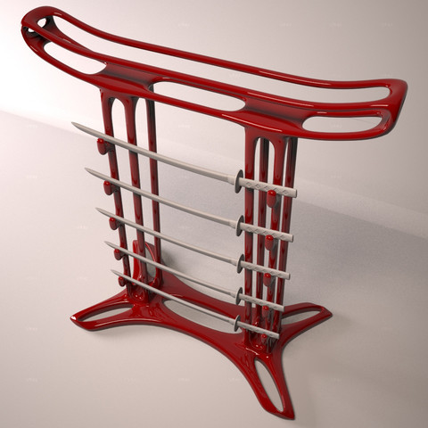 stl files Cocktail Katana rack, CPalmroos