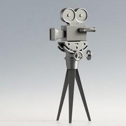 3d model 35 mm film camera with crank head, kareca