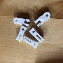 Download free 3D printing templates Clip crochets pour rideau sur câble, Picaboubx