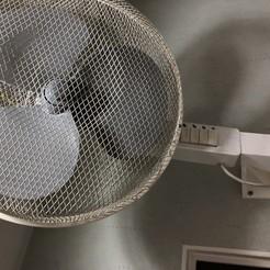 Download free 3D printer designs Support mural pour ventilation sur pied, Picaboubx