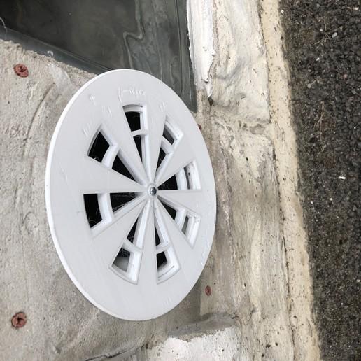 Télécharger objet 3D gratuit Grille de ventilation extérieur Ouverte/Fermée Ø120mm, Picaboubx