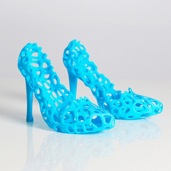 Free 3d printer designs Zortrax Voronoi Heels, Zortrax