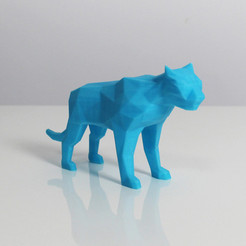 t1.jpg Download free STL file Poly Tiger • Object to 3D print, Zortrax