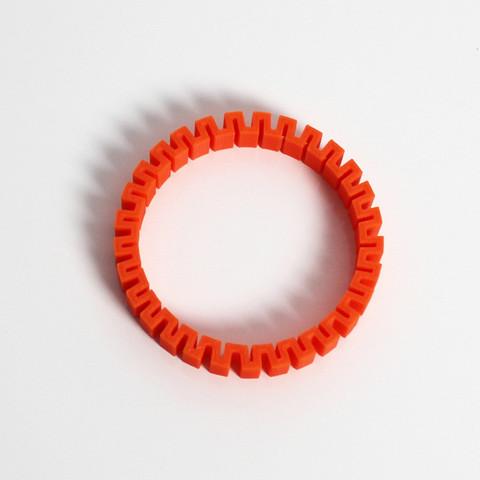 b3.jpg Télécharger fichier STL gratuit Bracelet en Z • Objet à imprimer en 3D, Zortrax