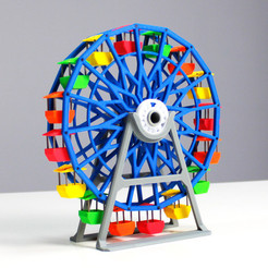 ferris1.jpg Download free STL file Ferris Wheel • 3D printing template, Zortrax