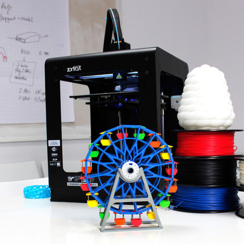 ferris_2.jpg Download free STL file Ferris Wheel • 3D printing template, Zortrax