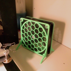 Free 3d printer designs Fan guard with feet for 120mm fan., tahustvedt