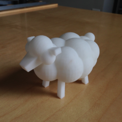 Free 3D printer file Tiny sheep from LEO the Prince Maker (MINIATURE), leothemakerprince